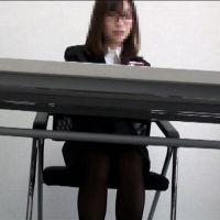 【再販】綺麗なリクルートお姉さんを赤外線で覗いてみた・・No.8 (机の下編)