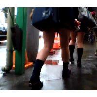 通学中の制服女の子を追跡!【動画】03