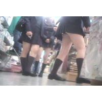 幼い学生がぞろぞろとお買い物ハミパンしまくりw【パンチラ動画】花色木綿 16〜18セット販売
