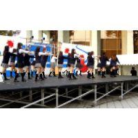 〜極秘ファイル〜制服JK学園祭で激しく踊りPチラ!