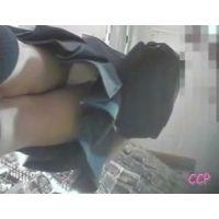 お店をブラブラ女の子を逆さ撮り可愛いパンチュを履いてますw【動画】CCP 012