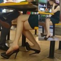 【HD動画】ランチ中の靴脱ぎ5シーン
