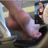 【HD動画】女子大生のパンプス脱ぎプレイと足の裏(ショート版)