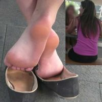 【HD動画】女子大生のフラットパンプス脱ぎ足の裏2(ロング版)