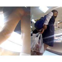 親の隣りでカメラ3回突っ込まれた食い込み赤パンJK(Full HD)