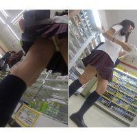 コンビニで撮られまくる美形制服女子(Full HD)