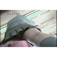 【逆さ撮り】JKのスカートの中、プクマンもっこり【電車内】<iPhoneスマホ対応>