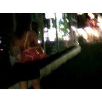 背中出し肌の露出が多い私服で出勤するキャバクラ嬢【ストーキング動画】街撮り編 307