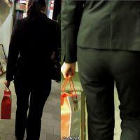20代前半ピタパンお尻OLスーツ姿で夜の街を歩く【動画】街撮り編 1005