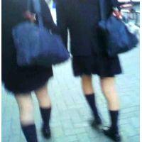 制服ハイソックス学校帰りの女の子2人組【ストーキング動画】街撮り編 119