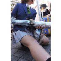 コスプレ2016冬スカートの中がチラ伸ばす右脚戻すとき【動画】イベント編 2909