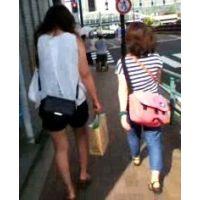 薄着でブラブラ20代前半の女の子2人組【ストーキング動画】街撮り編 310