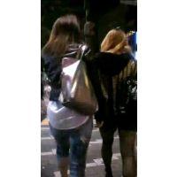 夜にブラブラする女の子2人組【ストーキング動画】街撮り編 106