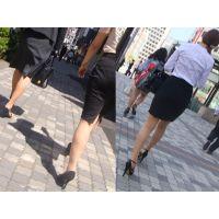 タイトスカートにパンティラインを浮かび上がらせてエロ挑発する美脚過ぎるオフィスレディ様