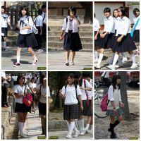 制服女子校生達の修学旅行風景 File005