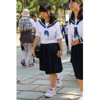 制服女子校生達の修学旅行風景 File043