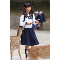 制服女子校生達の修学旅行風景 File024