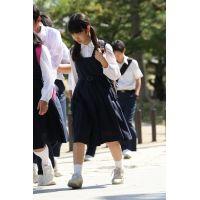 制服女子校生達の修学旅行風景 File040