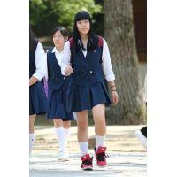制服女子校生達の修学旅行風景 File017