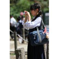 制服女子校生達の修学旅行風景 File027