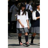 制服女子校生達の修学旅行風景 File018