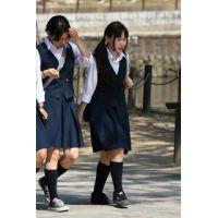 制服女子校生達の修学旅行風景 File019