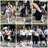 制服女子校生達の修学旅行風景 File004