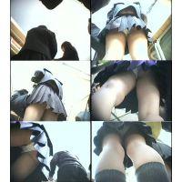 【校内】靴・カバンカメラにてJK逆さ撮り!!!パート3