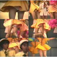 チアガール(オレンジワンピ+白アンスコ)室内演技♪