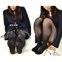 JK・Moe#4・ブレザー制服&黒タイツ(30デニール)
