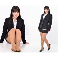 Yuuka#2/リクルートスーツ&ブラウンストッキング