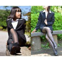 Noa・Sakiko/リクルートスーツ&黒ストッキングセット