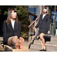 Yuki#3/リクルートスーツ+ブラウンストッキング