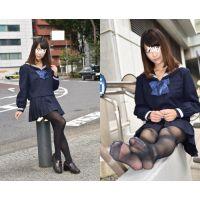 Yuki/セーラー服&黒ストッキング&黒タイツセット