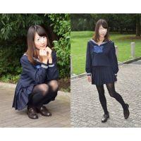 Yuki#2/セーラー服+黒タイツ