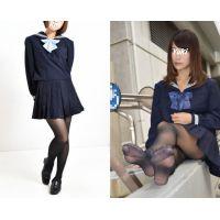 Yuki#1・セーラー服+黒ストッキング