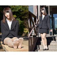 Yuki#4/リクルートスーツ+ベージュストッキング