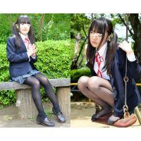 Sakiko/スクールブレザー&黒ストッキング&黒タイツセット