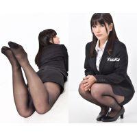 Yuuka#3/リクルートスーツ&黒ストッキング