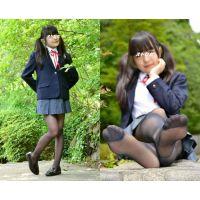 Sakiko#2/スクールブレザー&黒ストッキング