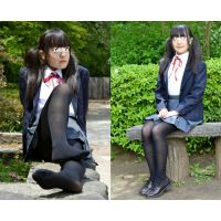 Sakiko#3/スクールブレザー&黒タイツ