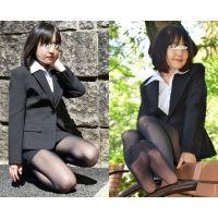 Sakiko#5/リクルートスーツ&黒タイツ