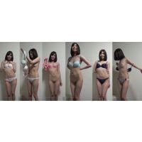 下着撮影93-1★スレンダー美乳美女★★隠し撮り★★パンツ★★ブラジャー★★