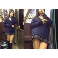 綺麗系 ミニスカ女子高生。