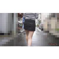 【FHD 60i】女子大生のお尻7(黒ミニスカート ‐下着は白のTバック‐)