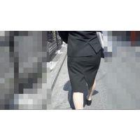 【FHD 60i】女子大生のお尻3-2(リクルートスーツ -うっすらパンツライン-)