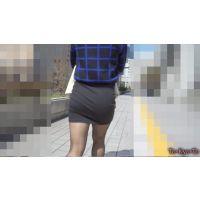【FHD 60i】お姉さんのお尻15-2(黒タイトミニスカート -むちむちのお尻を左右にいやらしく振って歩く姿がエロイー