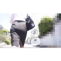 【FHD 60p】女子大生のお尻31 カメラ2(リクルートスーツJDの透けブラ、パン線)