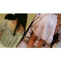 【FHD 60fps】女子大生のお尻48 (JD?J○?透けパン!白のスカートで清楚な子のお尻)
