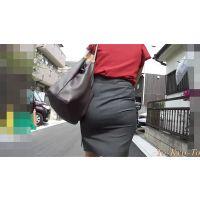 【FHD 60i】スーツのお尻17(通勤途中のタイトスカート)